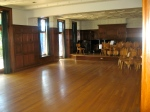 The recital hall minus all the catering equipment.