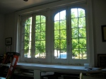 My north windows before the interior storm window was installed.